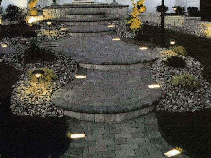 Landscape stone and pavers living products for Landscape lighting supply