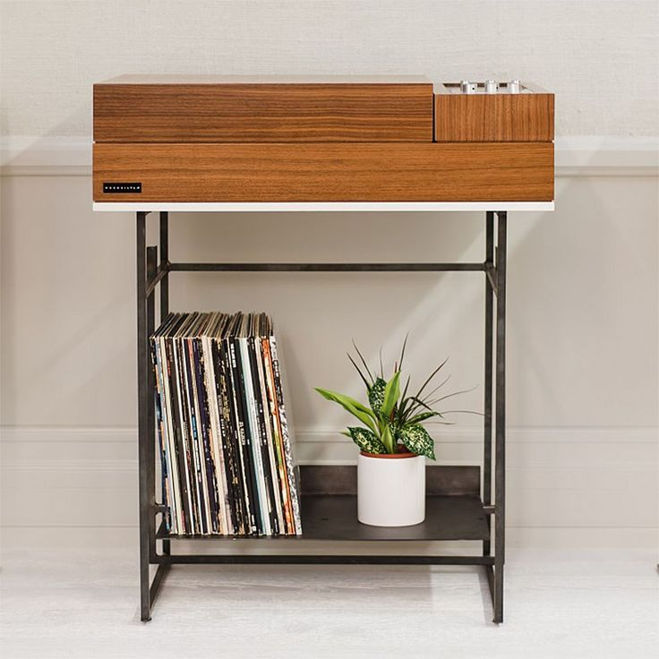 Wrensilva's Loft Record Console is a beautiful and compact Walnut and Acrylic unit with analog and streaming audio, a turntable, 300 watt amp and more.