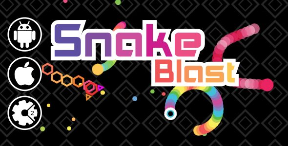 Snake Blast - HTML5 Mobile & Desktop Game . Snake Blast inspired by classic snake game with colorful and modern game. get score and avoid the