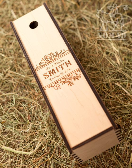 Wedding Wine Box Wine Box  Wedding Wine Present by NomadGift