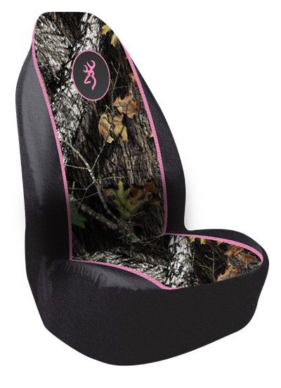 Browning Buckmark Camo Bucket Seat Cover - Pink Trim-Heavy Duty Polyester  WANT!!!