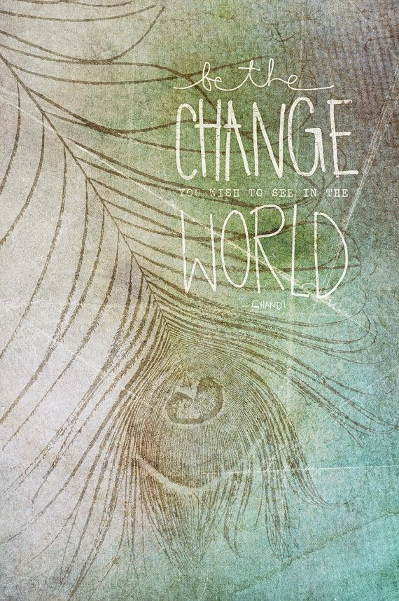 Be The Change by vol25 on Etsy