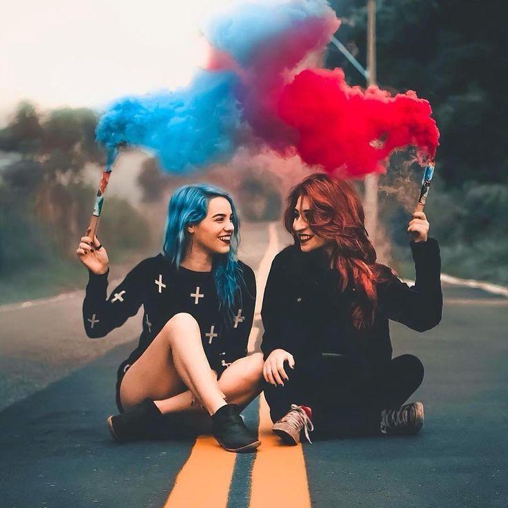 более фото с цветным дымом идеи бревна