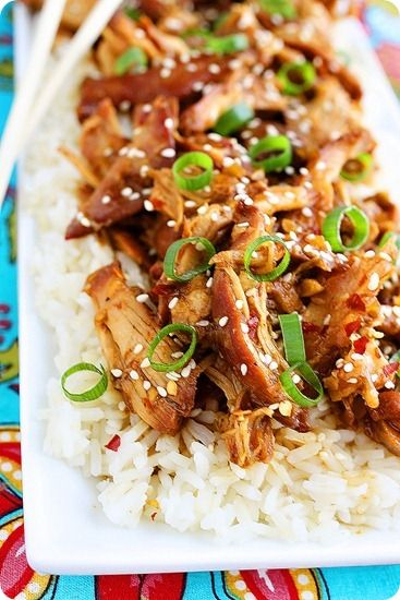 Crock Pot Honey Sesame Chicken Recipe CrockPot honey sesame sesamechicken recipes dinner