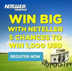 WIN BIG WITH NETELLER: 5 chances to win 1,000 USD : We're giving you 5 chances to win some amazing cash prizes in our WIN BIG WITH NETELLER Promotion.  For the chance to win one of five 1,000 USD prizes, all you need to do is register and earn entries between 10 – 20 February.  Register now and you could WIN BIG WITH NETELLER!