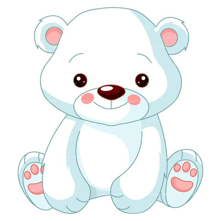 CLIPART BABY POLAR BEAR | Royalty free vector design