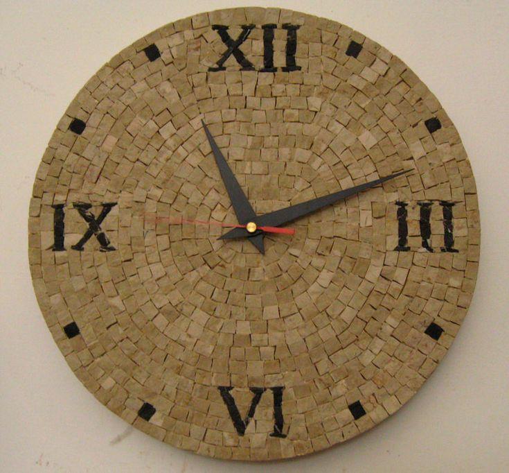 Mosaico Artigiano – Laboratorio di artigianato artistico   Orologio in mosaico