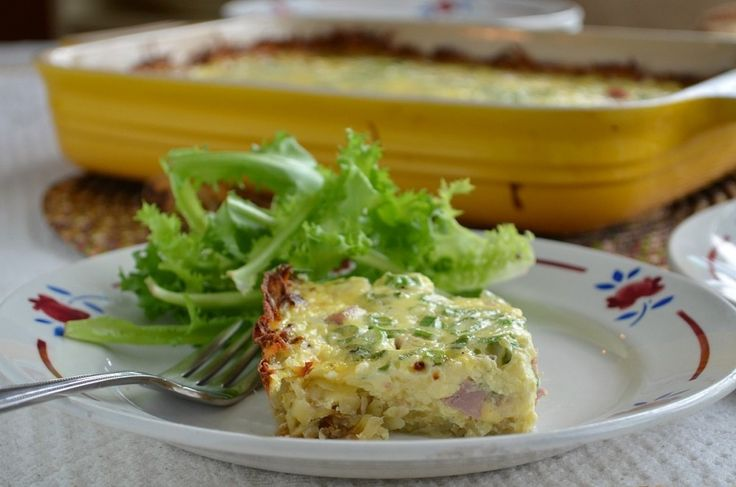 Ham and Cheese Quiche with Hash Brown Crust | Recipe ...