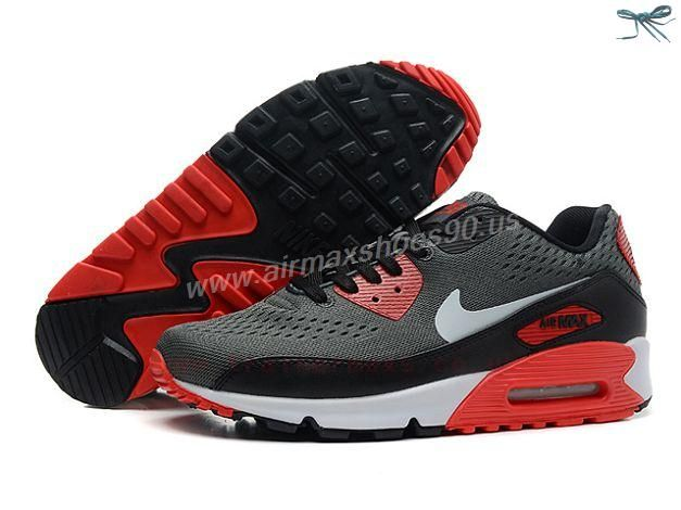 Grey Black Nike Store For Air Max 90 Premium EM QS Mens Trainers