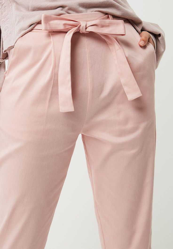 Self tie cigarette pants - dusty pink dailyfriday Trousers | Superbalist.com