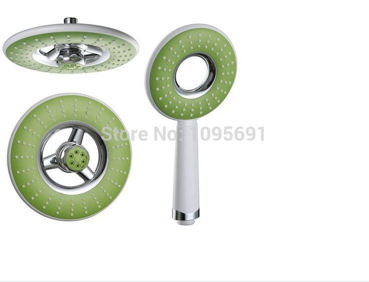 Хромированная отделка ABS 8 дюймов верхний тропический душ душевая головка + ABS одной функции ручной душ 1.5 м из нержавеющей стали Душ hose-6078