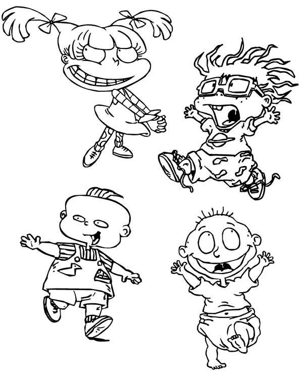 161 best rugrats images on pinterest | rugrats, colouring pages ... - Rugrats Characters Coloring Pages