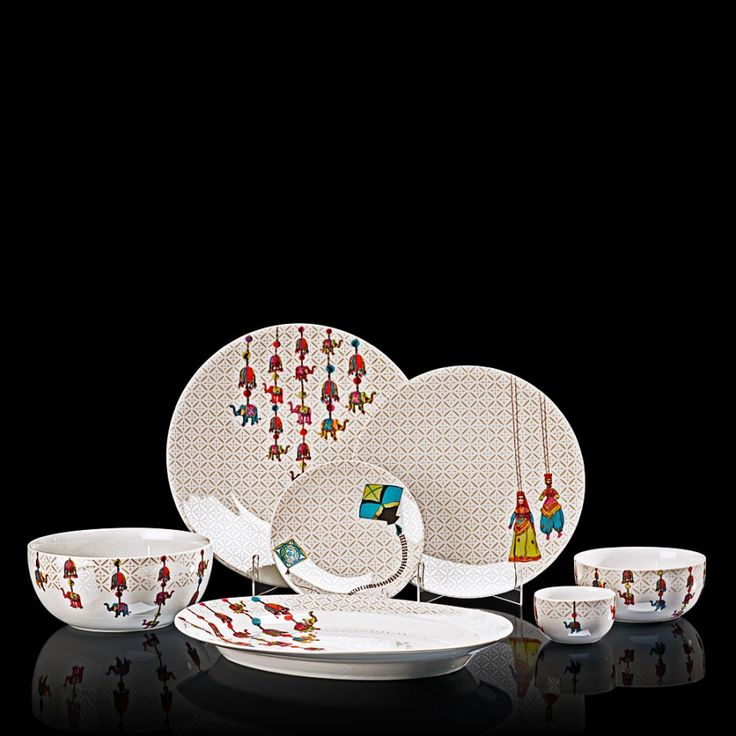 Buy Dinner Set Online in India. Shop for premium dinner sets for formal dinners. These 21 pcs Designer dinner set in fine china u0026 porcelain ... & 246 best Tableware images on Pinterest | Dinner ware Dinnerware and ...