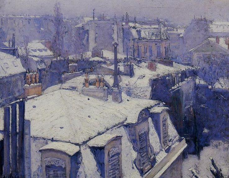 Gustave CAILLEBOTTE «Vue de toits, effet de neige»