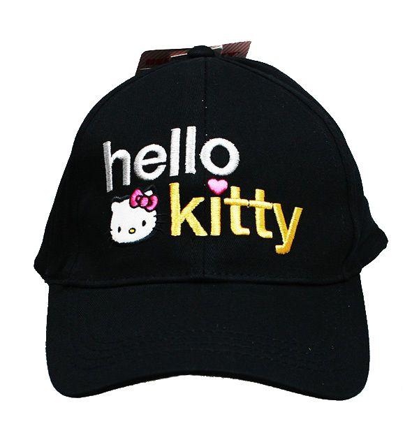 Hello Kitty Adjustable Baseball Cap Hat- Black  9631f292a786