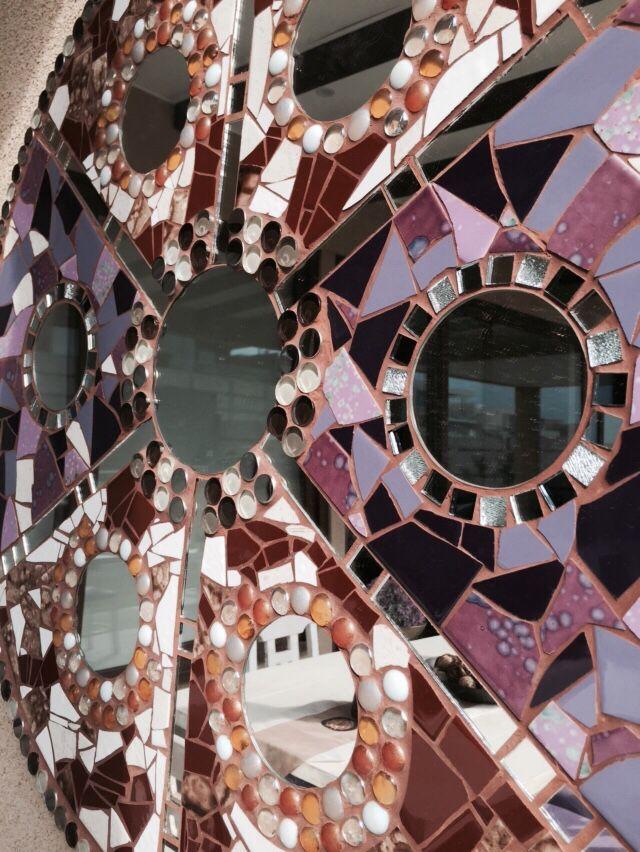 Mandala Mosaico espejo cerámico