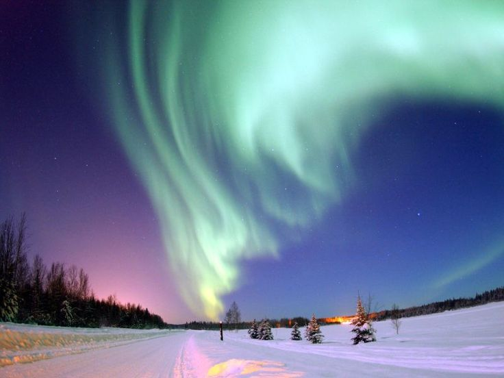 este paisaje es una aurora de alaska