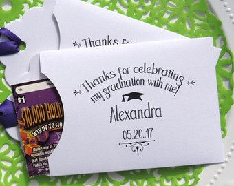 Graduation Party Favors For Lottery Ticket High School College