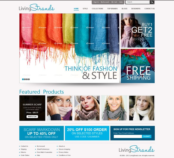 New website design wanted for LivingStrads.com