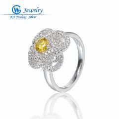 [ 40% OFF ] Gw Fine Jewelry Princess Natural Topaz Gems Ring Pure Solid Genuine 925 Sterling Silver Ring 2016 Brand Gift For Women Fr352H70