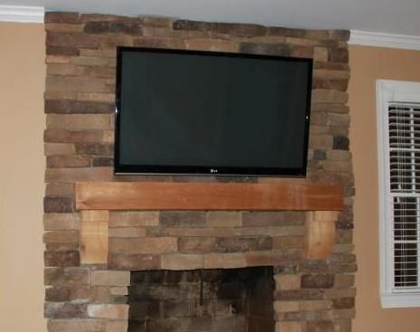 109 best fireplace tv mount images on pinterest tv - Tv wall mount over fireplace ...