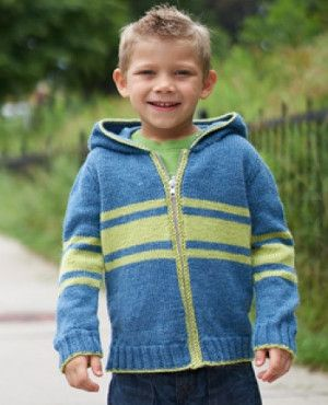 Get your kids ready to head back to school with this School Yard Hoodie. This cheery knit hoodie pattern is perfect for romping around on the playground.
