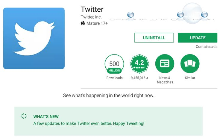 Twitter Update Android - 6.42 April 11 2017 http://j.mp/2p7L5Zr #twitter #twitterapp #twitterupdate