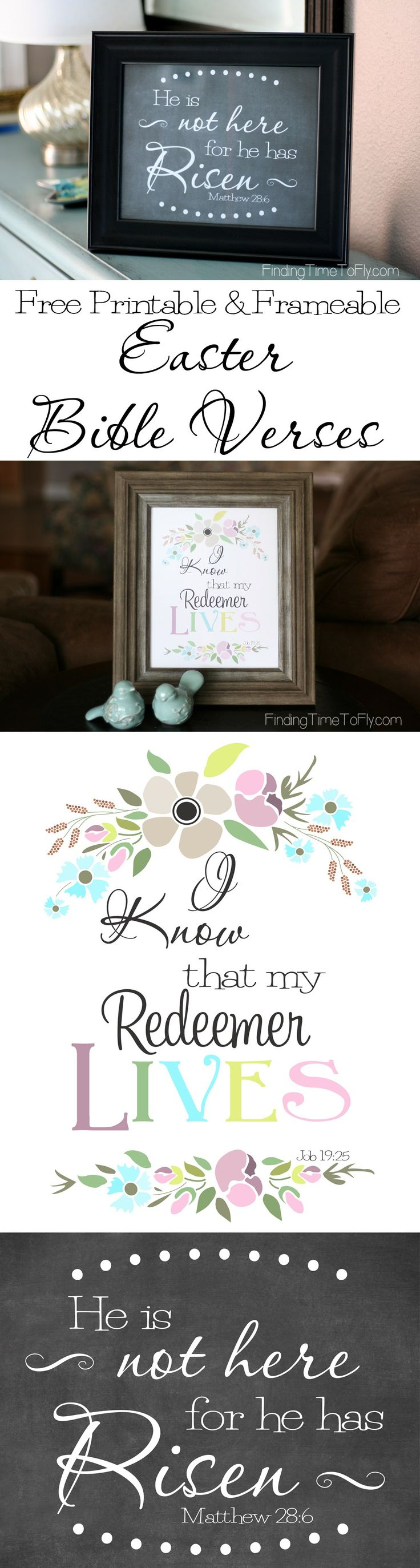 I love these Easter printables! They will make a great addition to my Easter decor.