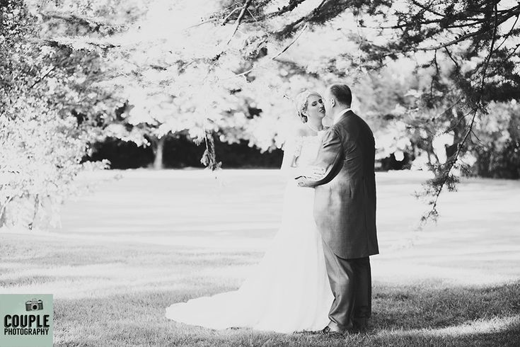 A romantic moment. Weddings at Moyvalley Hotel and Golf Resort Photographed by Couple Photography.