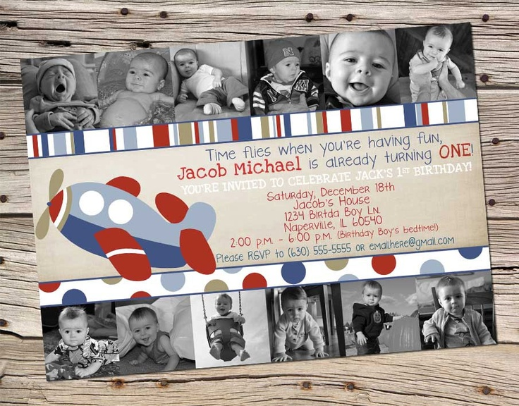 Boys 1st Year Airplane Birthday Theme by onlysunshinedesigns, $18.00