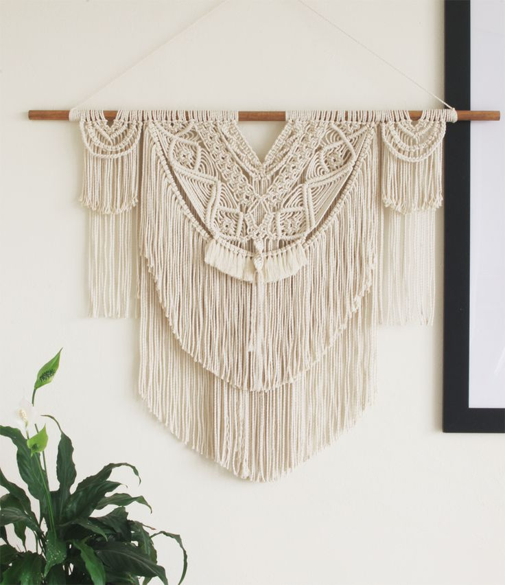 Lorin | One of a kind boho inspired Macramé wall hanging by Macramé Mons. One piece revealed each fortnight on a Monday ✖️