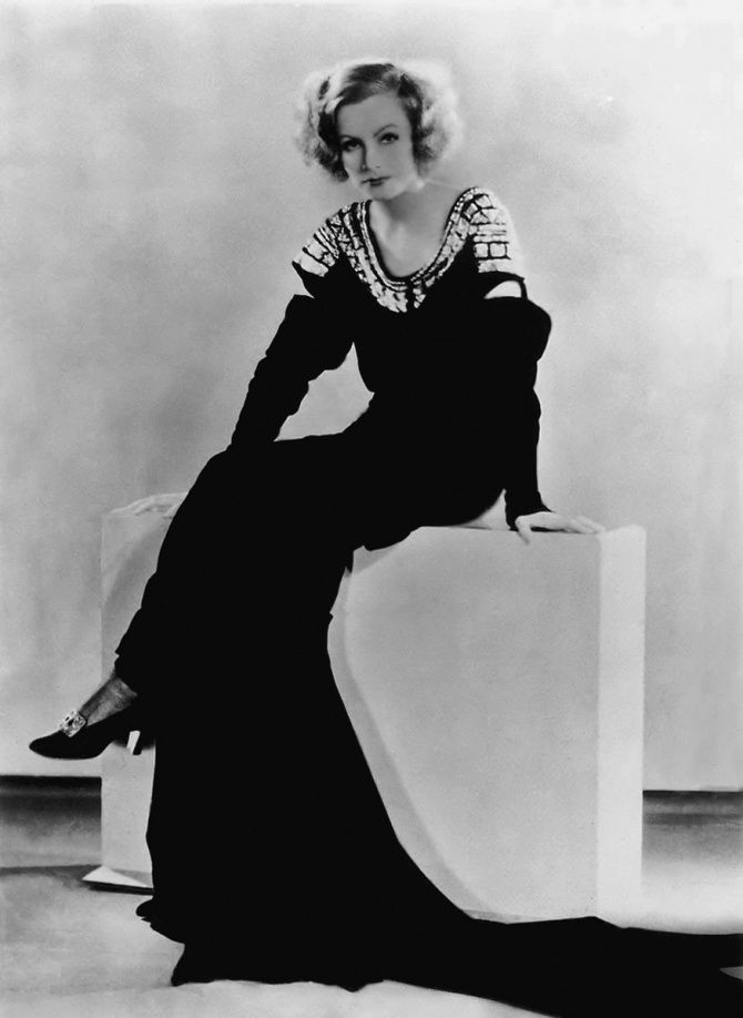 Greta Garbo in evening dress designed by Gilbert Adrian, c.1931 ...