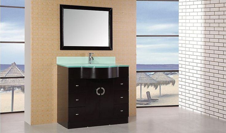 "Aria 40"" Single Sink Vanity Set in Espresso"