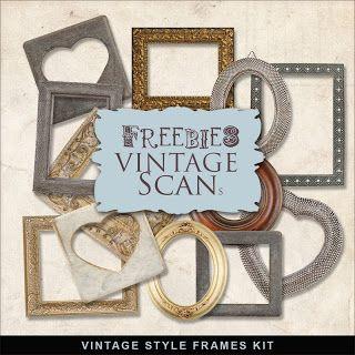 Vintage Style Photo Frames- FREEBIE_Far Far Hill