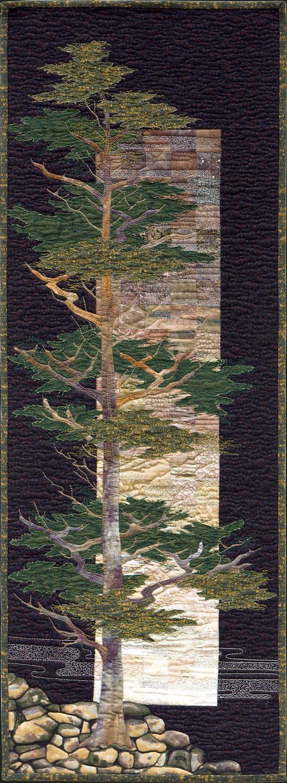 'Sentinel' - hand applique, machine applique, machine embroidery.