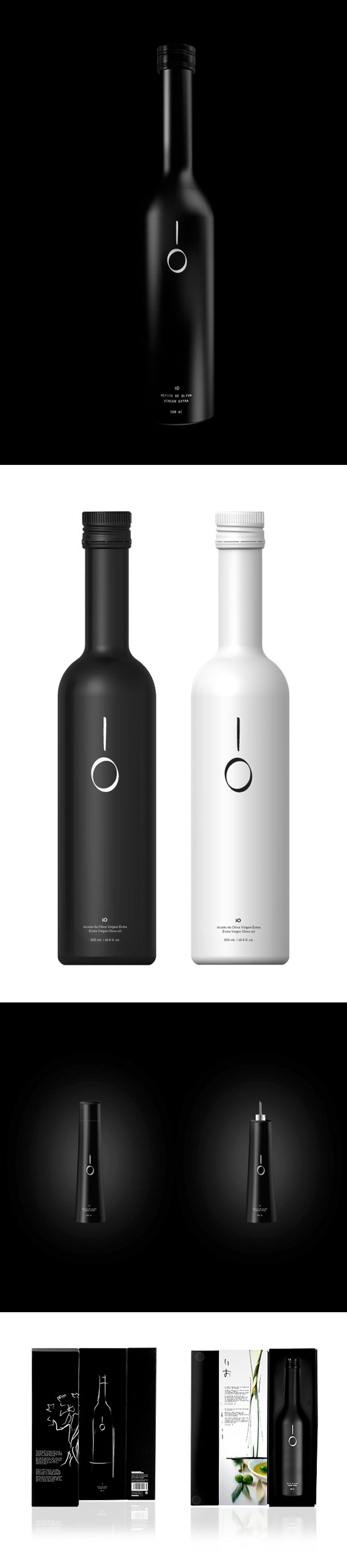 IO Olive oil packaging by The Strategic Concept & Design Brand Studio  http://sbbs.prosite.com/47391/225297/portfolio/io-olive-oil-packaging