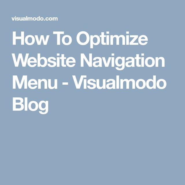 How To Optimize Website Navigation Menu - Visualmodo Blog