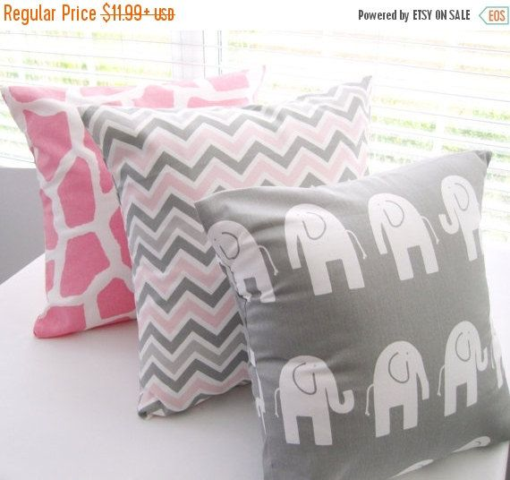 Pillow Cover Pillows Baby Pillow Case Baby Girl by PillowsByJanet