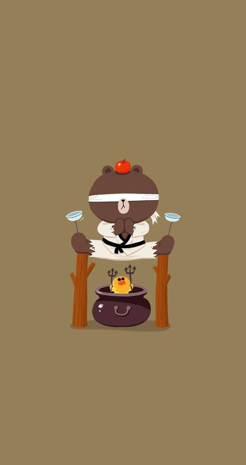 wallpapers, cute, and line friends