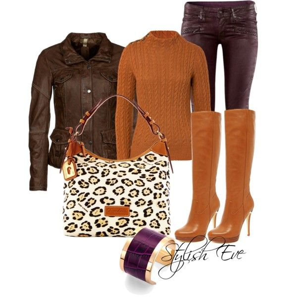 """Brown and Orange Outfit !"" by stylisheve on Polyvore"