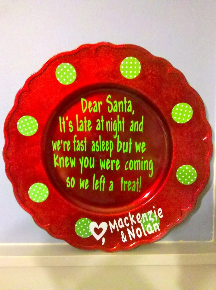 decorative christmas plate by thecricketscorner on etsy