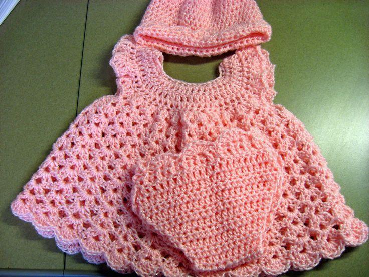Dorable Crochet Baby Dress Pattern Free Easy Mold Easy Scarf