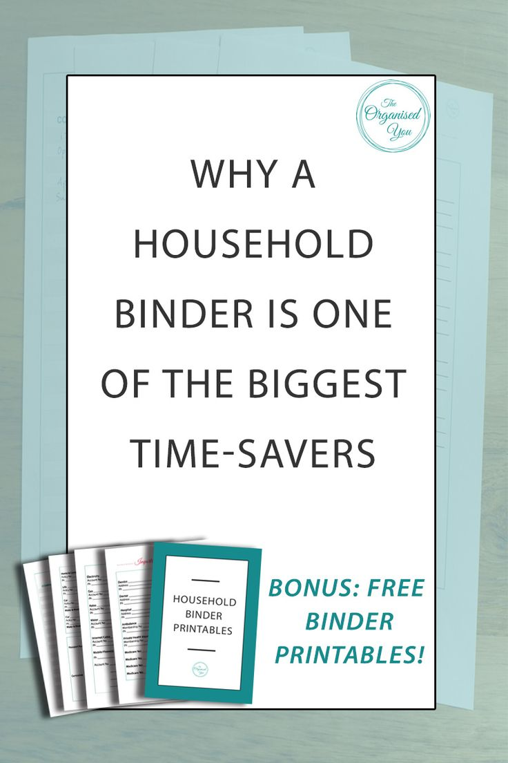 Why a household binder is one of the biggest time-savers - Imagine if you could have all your important household information all in the one easy-to-access spot, so you didn't have to go searching through piles of paperwork to find what you needed. A household binder will help relieve you of this stress, and is one of the greatest time-saving devices! Click through to read how to set one up and get access to 4 FREE binder printables!