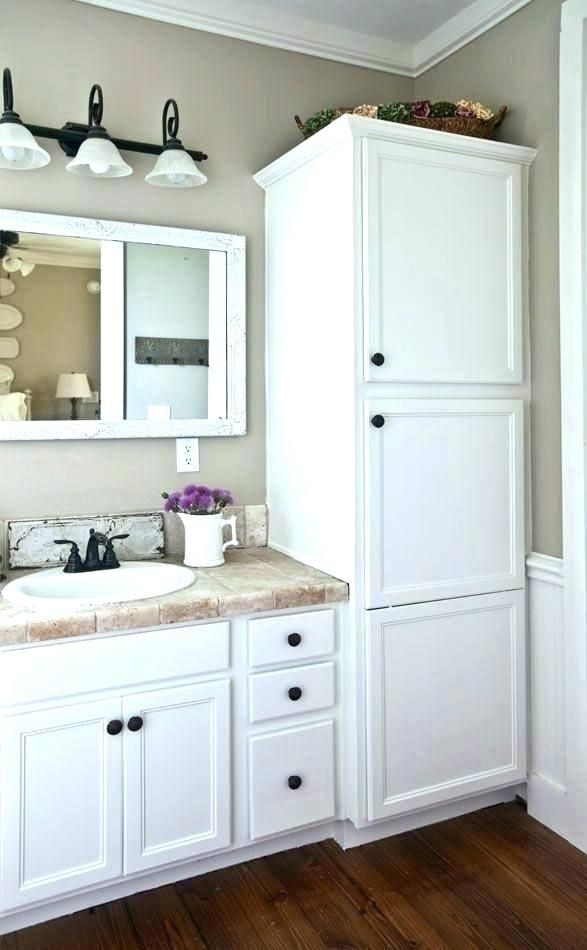 This Concept Not Colors And Tall Cabinet Not So Wide Bathrooms