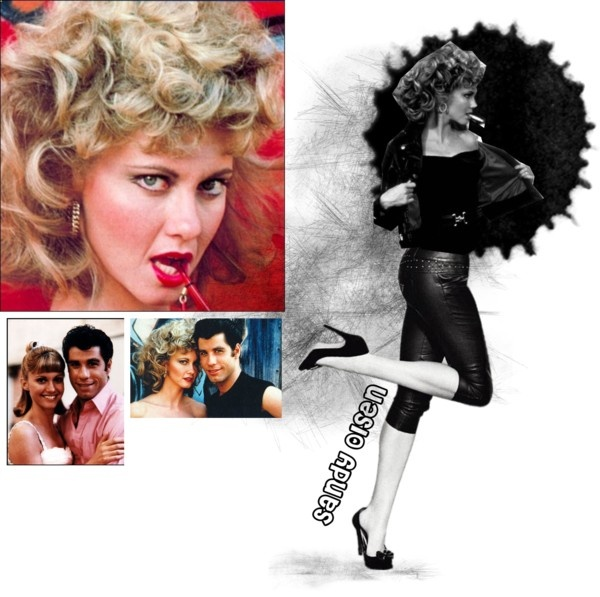 """""""48-Sandy Olsen-(from Grease)"""" by psiche-olga ❤ liked on Polyvore"""