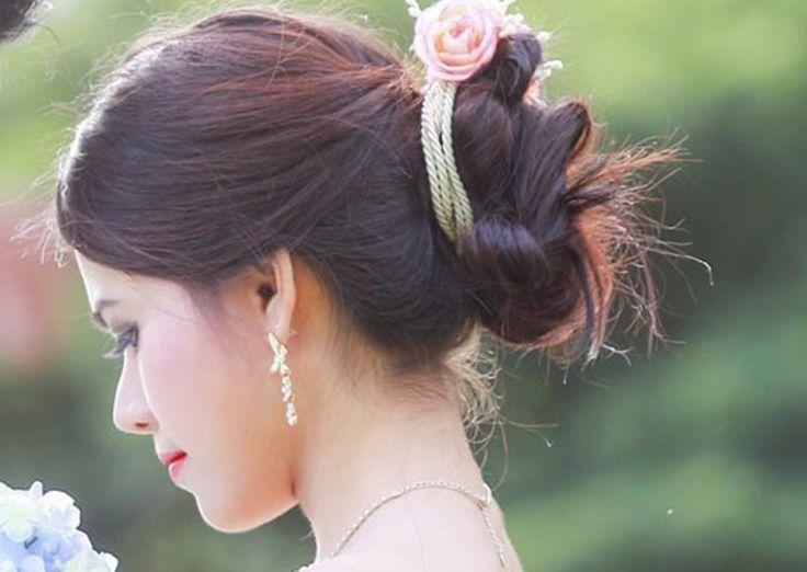 admin (Dengan gambar) | Model rambut pengantin, Rambut ...