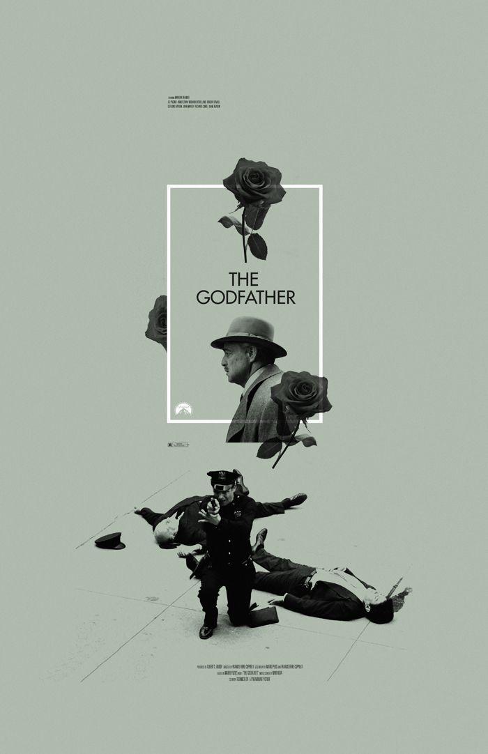 °Movie Poster | The Godfather by Adam Juresko | #graphic #design |
