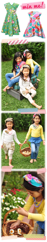 Handmade Girls Dresses, Twirly Apron Dress