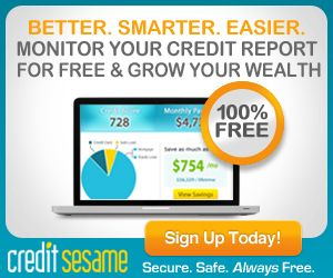 Monitor Your Credit Report for FREE and be entered to WIN 250.00!  Hurry offer ends 2/28!