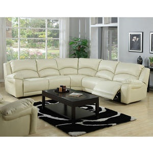 reclining sectional in ivory